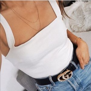 Lulus white bodysuit
